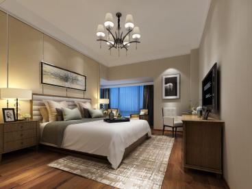 映月湾花园半包三室一厅现代简约装修效果图
