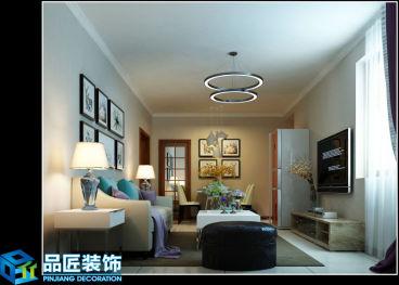 京广家园美式二室二厅装修效果图