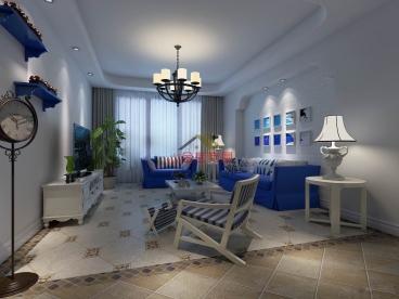 温泉小镇120平三室二厅装修效果图