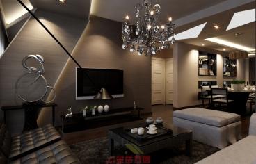 中新国际城全包三室二厅装修效果图