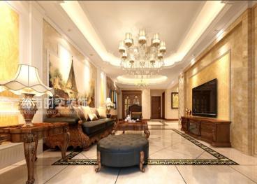 拉菲香榭三室二厅全包装修效果图