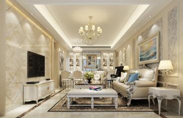海印长城120半包三室二厅欧式古典装修效