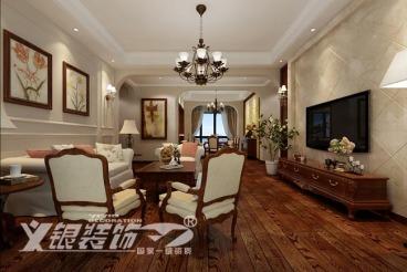 滨湖假日金榈园美式189平四室二厅装修效