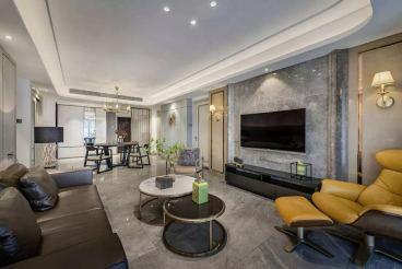 官山翰林142平三室一厅现代简约装修效果