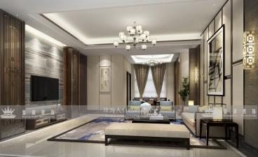 名爵观园新中式四室二厅装修效果图