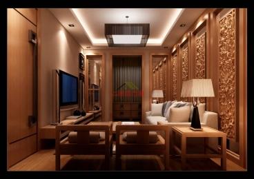 蓝石大溪地中式186平四室二厅装修效果图