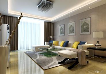 金元国际新城现代简约三室二厅现代简约装修
