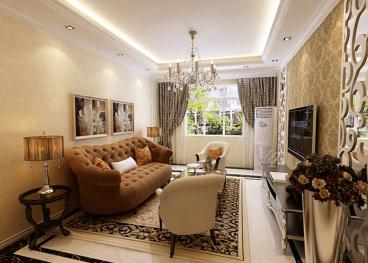 北宁湾致远家园欧式古典二室二厅88平装修