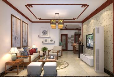 福景佳苑三室二厅129平装修效果图