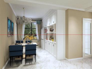 厚德福城152平三室二厅装修效果图