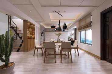 三泰大厦三室二厅现代简约装修效果图