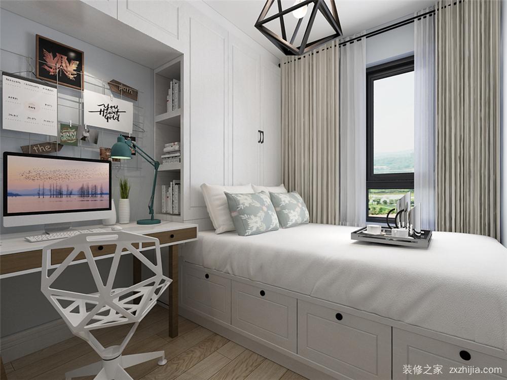 融创兰园北欧卧室效果图图片