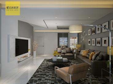 中海华山珑城145平三室二厅装修效果图