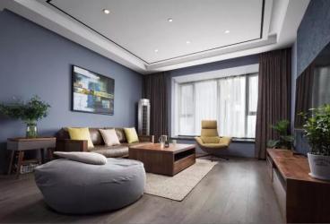 海珠沙园大厦三室二厅现代简约装修效果图