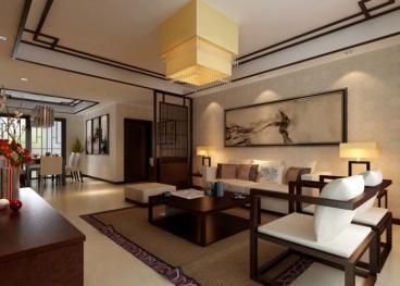 弘宇琉森堡四室二厅新中式装修效果图