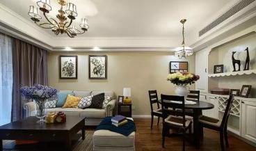 塞纳丽城半包三室二厅装修效果图