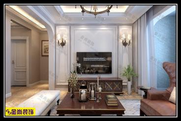 水晶郦城全包三室二厅装修效果图