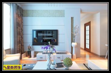 鹊华天禧103平三室二厅装修效果图