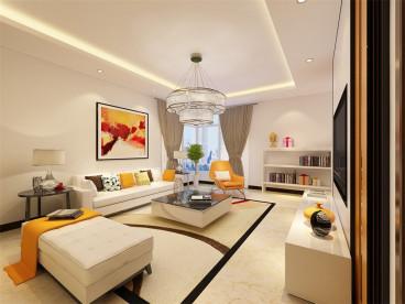 中浩智城三室二厅110平装修效果图
