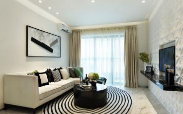 澳丽嘉园三室二厅现代简约装修效果图