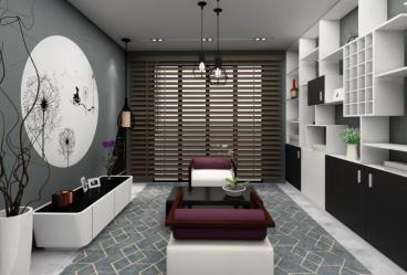 西子曼城三室二厅现代简约装修效果图