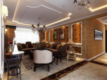 中海明珠简欧四室二厅装修效果图