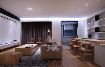 泰禾红悦三室一厅现代简约装修效果图