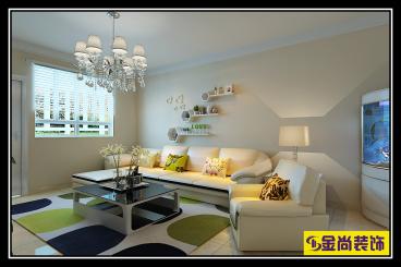 高新绿城玉兰花园三室二厅现代简约装修效果