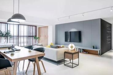 万菱君临国际公寓现代简约78平装修效果图
