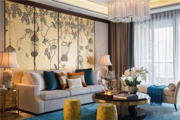 福州阳光城翡丽湾新中式三室一厅装修效果图