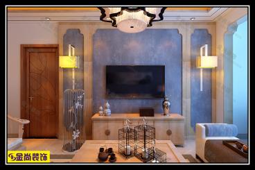 水晶郦城115平三室二厅装修效果图