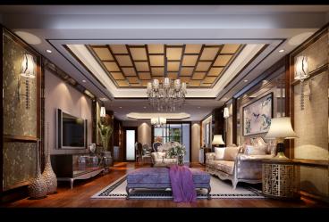 柿铺私宅新古典四室二厅装修效果图