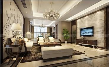 保利香槟国际六室三厅全包装修效果图