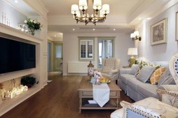 碧水天和三室二厅美式装修效果图