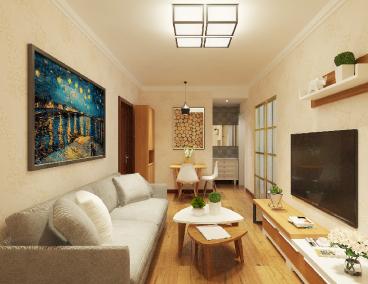 保利达65平二室一厅装修效果图