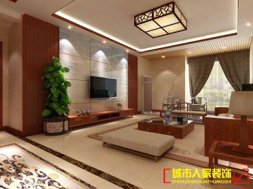 帝都国际城二室一厅新中式装修效果图