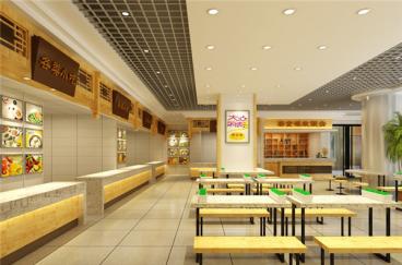 大连天兴罗斯福美食广场全包装修效果图