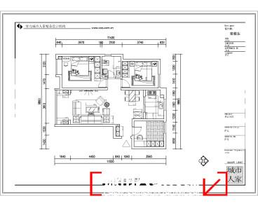 和达中心城115平二室二厅装修效果图