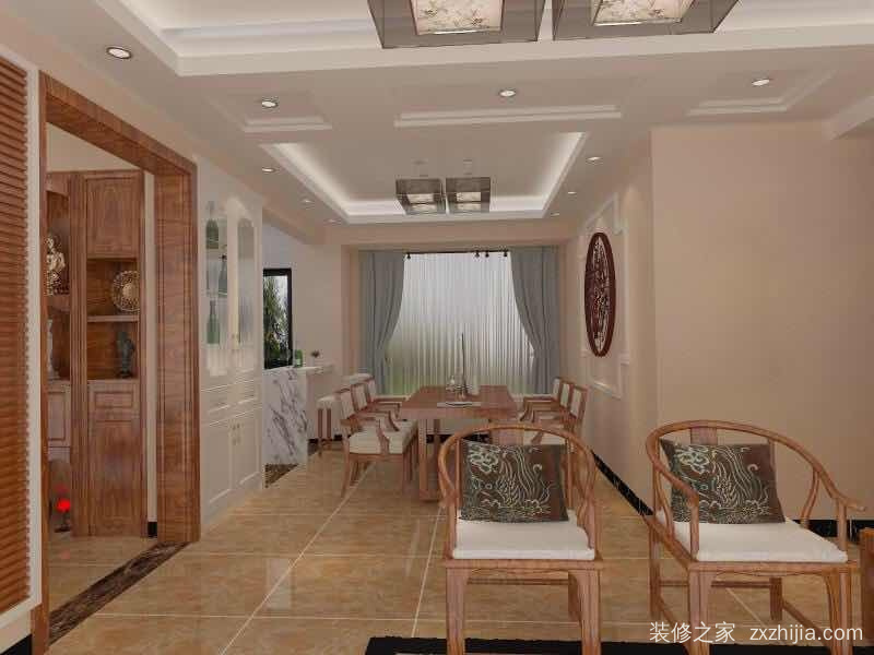 君汇湾三室二厅130平装修效果图