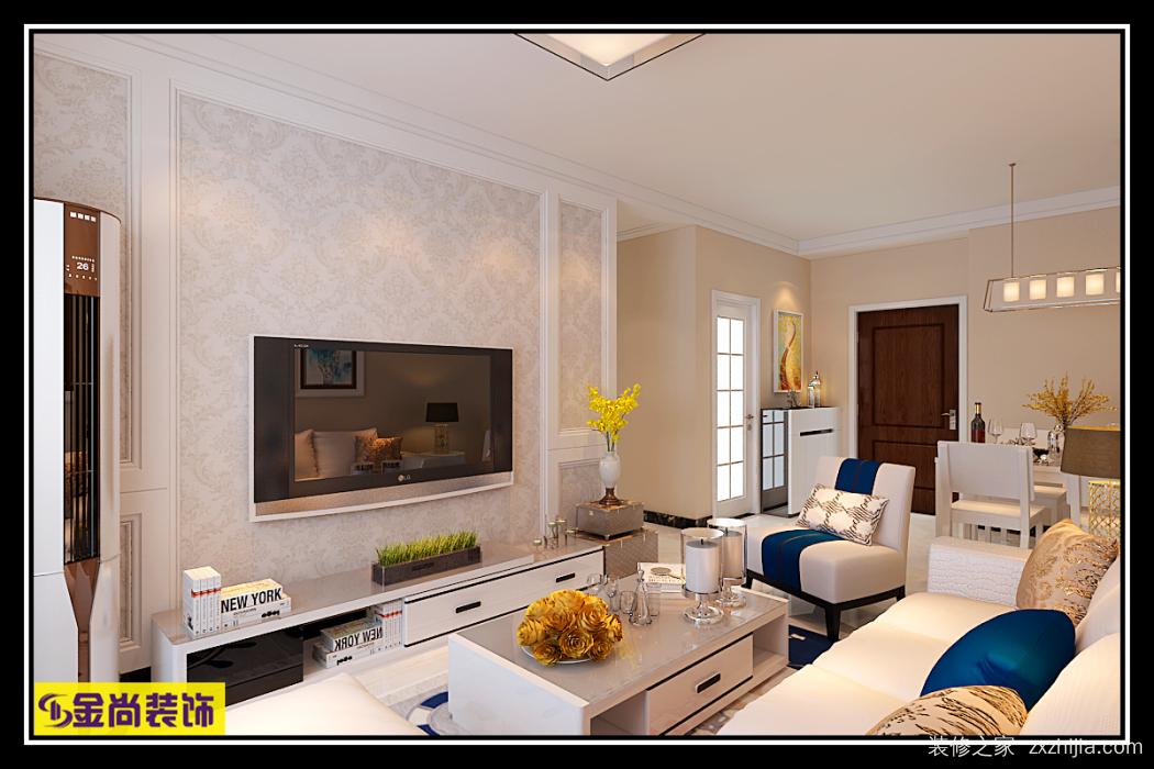 名辉豪庭二室二厅81平装修效果图