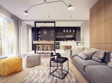 橄榄城二室二厅60平装修效果图