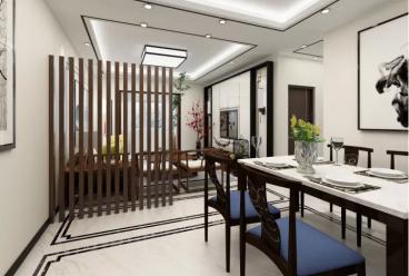 康城静林湾新中式三室二厅装修效果图