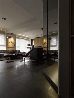 申瑞国际二室二厅工业风装修效果图