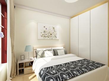 北欧极简二室二厅半包装修效果图