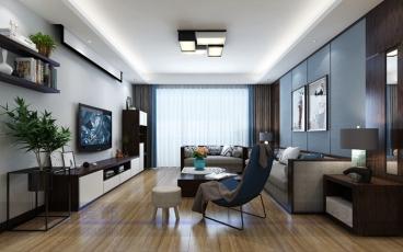 宝龙城市广场三室二厅半包装修效果图
