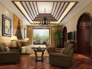 城投熙和园四室二厅东南亚装修效果图