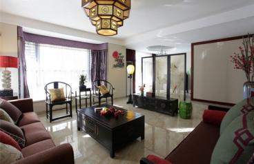 洲际亚洲湾中式二室一厅装修效果图