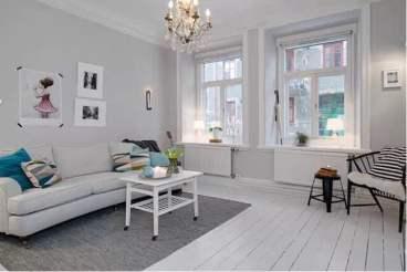 和骏新家园80平二室一厅装修效果图