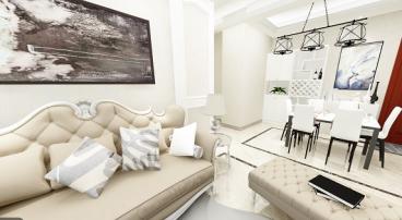 丁香园二室一厅120平装修效果图