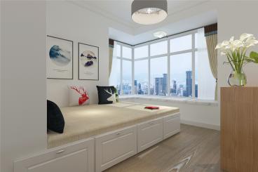 滨海新城91平二室二厅装修效果图